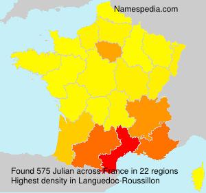 Familiennamen Julian - France