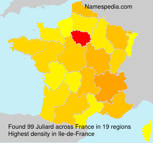 Surname Juliard in France