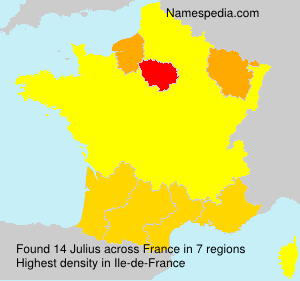 Surname Julius in France