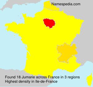 Familiennamen Jumarie - France