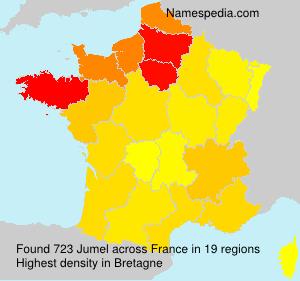 Familiennamen Jumel - France