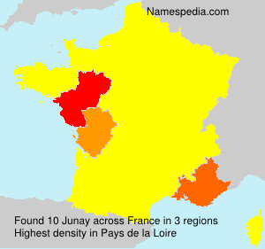 Surname Junay in France