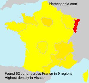 Familiennamen Jundt - France