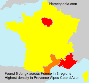 Surname Jungk in France