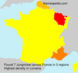 Surname Jungnickel in France