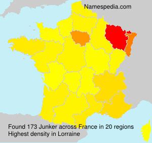 Surname Junker in France