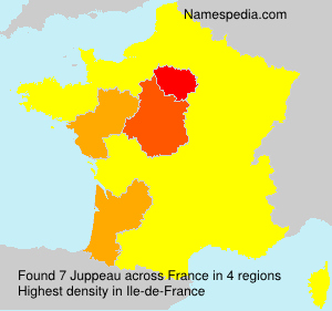 Surname Juppeau in France