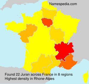 Surname Juran in France