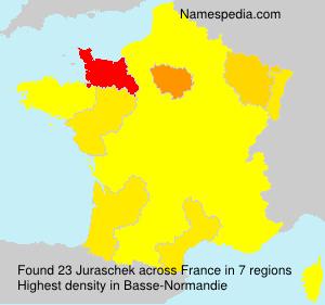 Familiennamen Juraschek - France
