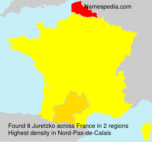 Surname Juretzko in France