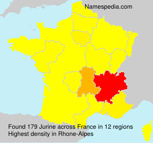 Surname Jurine in France