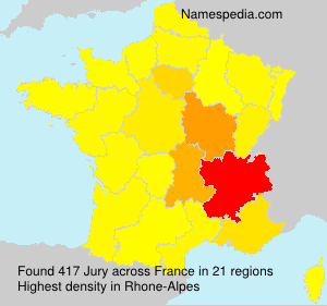 Surname Jury in France