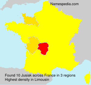 Surname Jusiak in France
