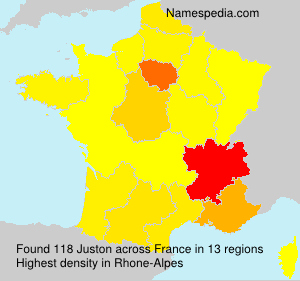 Surname Juston in France