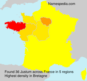 Surname Justum in France