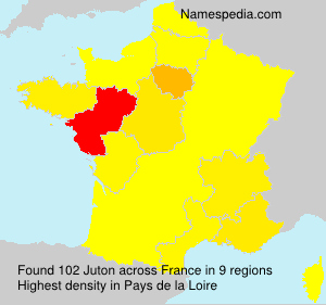 Surname Juton in France