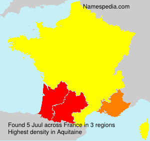 Surname Juul in France