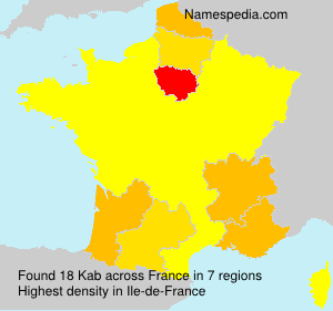 Surname Kab in France