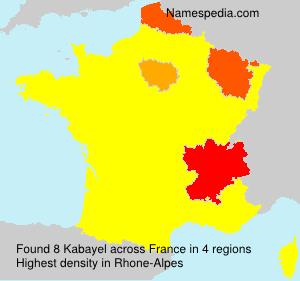 Surname Kabayel in France