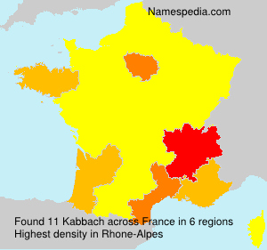 Surname Kabbach in France