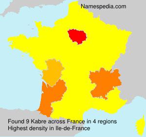 Surname Kabre in France