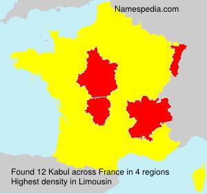 Surname Kabul in France