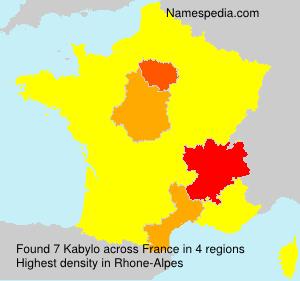 Surname Kabylo in France