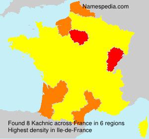 Surname Kachnic in France
