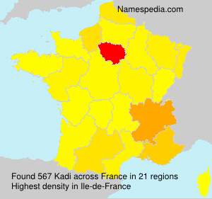Familiennamen Kadi - France
