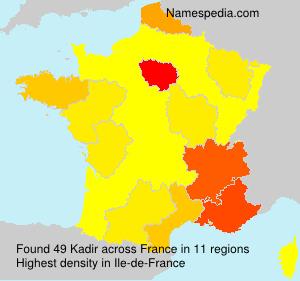 Surname Kadir in France