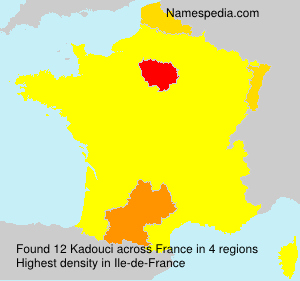 Surname Kadouci in France
