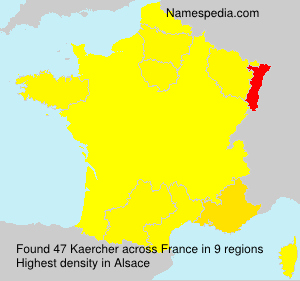 Surname Kaercher in France