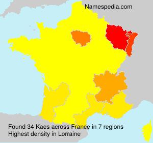 Surname Kaes in France