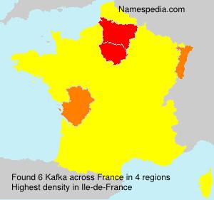 Surname Kafka in France