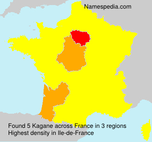 Surname Kagane in France