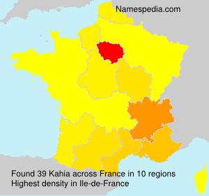 Familiennamen Kahia - France