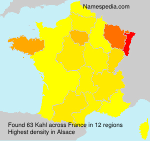 Surname Kahl in France