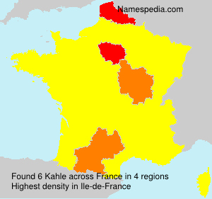 Surname Kahle in France