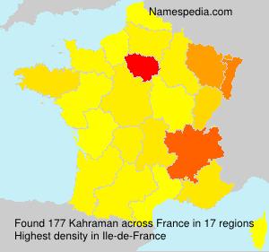 Surname Kahraman in France