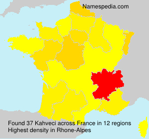 Surname Kahveci in France