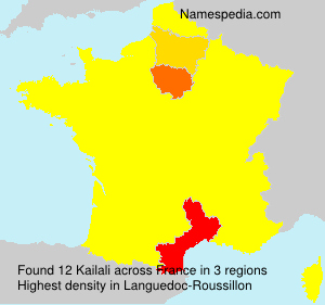 Surname Kailali in France