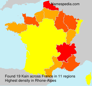 Surname Kain in France