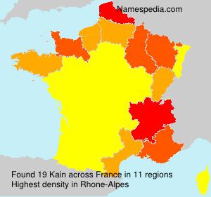 Surname Kain in France