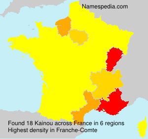 Surname Kainou in France