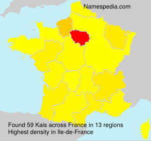 Surname Kais in France