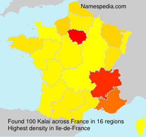 Surname Kalai in France