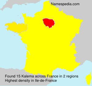 Surname Kalema in France