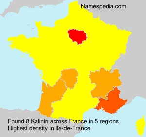 Surname Kalinin in France