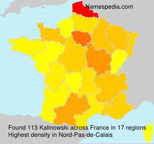 Surname Kalinowski in France