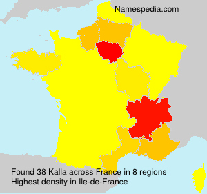 Familiennamen Kalla - France